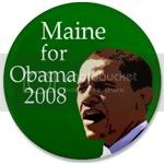 2429 Maine Pro-Obama 3.5 inch Button