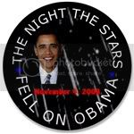 1552 3.5&amp;quot; The Night the Stars Fell on Obama Button