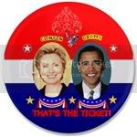 1691 Clinton-Obama 3.5&amp;quot; Button