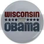 2394 Wisconsin for Obama Large Button