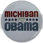 2348 Michigan for Obama Large Button