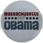1841 Massachusetts for Obama Large Button