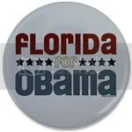 2345 Florida for Obama Large Button