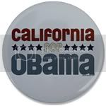 2236 California for Obama Large Button