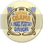 2464 Blue Hippy Obama Large Button