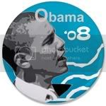 1536 OBAMA SHOPS 3.5&amp;quot; Button