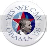 1667 OBAMA SHOPS 3.5&amp;quot; Button