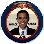 2125 Blue Shield Obama 3.5&amp;quot; Button