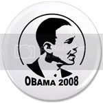 2498 OBAMA SHOPS 3.5&amp;quot; Button
