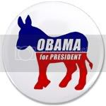 2412 Obama Democrat Donkey 3.5&amp;quot; Button