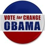 2423 Vote for Change Obama 3.5&amp;quot; Button