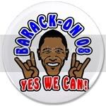 1863 Barack On Yes We Can 2008 3.5&amp;quot; Button