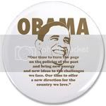 1849 Obama for President 3.5&amp;quot; Button