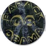 2385 Green Barack Obama Peace Sign Large Button