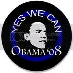 2321 OBAMA SHOPS 3.5&amp;quot; Button