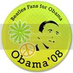 2173 Beatles Fans for Obama 3.5&amp;quot; Button