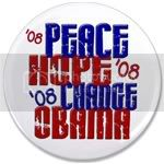 2144 Peace Hope Change Obama 4 3.5
