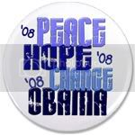 2353 Peace Hope Change Obama 6 3.5