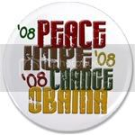 2383 Peace Hope Change Obama 1.2 3.5