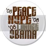 2338 Peace Hope Change Obama 5.1 3.5