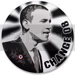 1708 Change is Black and White 3.5&amp;quot; Button