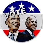 2341 Vote Obama and Biden in 2008 3.5&amp;quot; Button