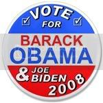 1858 Vote Obama and Biden 3.5&amp;quot; Button