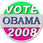 2340 Vote for Obama in 2008 3.5&amp;quot; Button