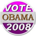 1856 Vote for Obama in 2008 3.5&amp;quot; Button
