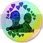 1861 Obama Biden - Feel the love 3.5&amp;quot; Button