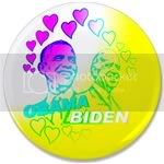 1855 Obama Biden - Feel the love 3.5&amp;quot; Button