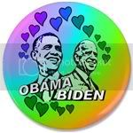 1864 Obama Biden - Feel the love 3.5&amp;quot; Button