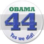 2176 Obama 44th President 3.5&amp;quot; button