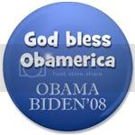 1671 God bless Obamerica 3.5&amp;quot; Button