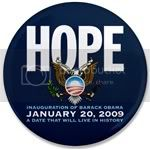 1475 Hope January 20 2009 3.5&amp;quot; Button