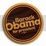 3020 Barack Obama for President Button - 2-1/4&amp;quot; (retro orange), BT15874