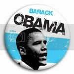 3024 Barack Obama Alternative B&amp;amp;W Photo Button  -  3&amp;quot;, BT15986