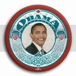 3021 Barack Obama for President Vintage Photo Button- 3&amp;quot;, BT21381