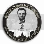 3032 Commemorative Obama '08  Abe Lincoln Photo Photo Button - 9&amp;quot; (Limited Edition), BT21419