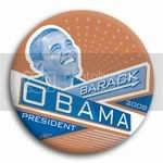 3023 Barack Obama President 2008 Button - 2-1/4&amp;quot; (blue and brown), BT21424