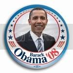 3001 Barack Obama '08 Photo Button -3&amp;quot; (circle stars), BT21425
