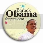 3007 Barack Obama for President Photo Button - 2-1/4&amp;quot; (50's retro), BT21427
