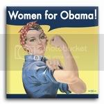 3014 &amp;quot;Women for Obama!&amp;quot; Rosie the Riveter Button  -  2&amp;quot; x 2&amp;quot;, BT21460