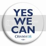 3019 &quot;Yes We Can&quot; Barack Obama Button - 2 -1/4&amp;quot; (white), BT22037