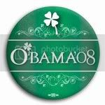 3012 Barack O'bama St. Patricks Day Button - 2 -1/4&amp;quot;, BT22449