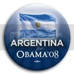 3075 Argentina for Barack Obama Button - 2 -1/4&amp;quot;, BT23501