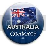 3131 Australia for Barack Obama Button - 2 -1/4&amp;quot;, BT23502