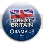 3141 Great Britain for Barack Obama Button - 2 -1/4&amp;quot;, BT23512