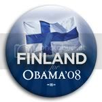 3142 Finland for Barack Obama Button - 2 -1/4&amp;quot;, BT23513