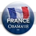 3143 France for Barack Obama Button - 2 -1/4&amp;quot;, BT23514